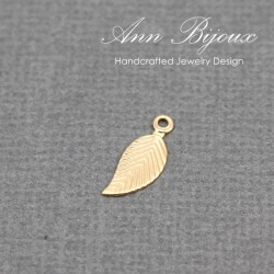 Fancy Leaf 14K Gold Filled Charm