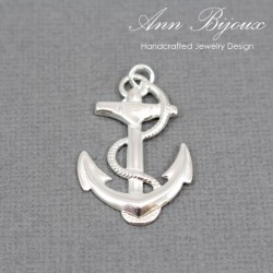 Anchor Charm/Sterling Silver Charm with Jump Ring