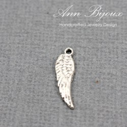 Angel Wing Charm/Sterling Silver Charm with Jump Ring