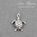 Sterling Silver Cute Turtle Charm