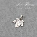 Sterling Silver Maple Charm