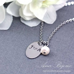 Personalized Stainless Steel Initial Necklace