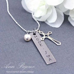 "Personalized Hand Stamped "" Hope"" Inspirational Necklace"