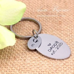 Customized DAD Established Father Keychain