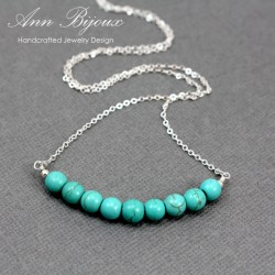 Turquoise Sterling Silver Layered Necklace