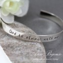 Personalized Sterling Silver Hand Stamped Special Quotes Cuff Bracelet