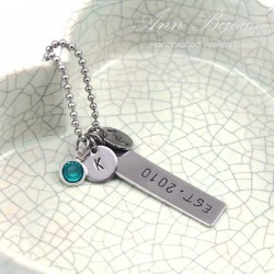 Personalized EST Family Initial Necklace