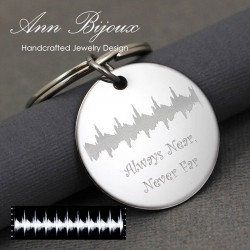 New Baby Gift, Actual Heartbeat Ultrasound key chain, EKG Heartbeat Key Chain, Sonic Waveform
