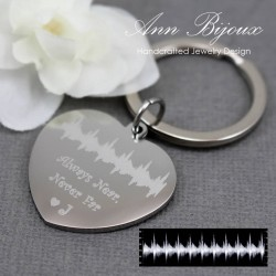 New Baby Gift, Baby Heartbeat key chain, Ultrasound key charm