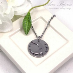 "Personalized Hand Stamped ""You make me smile"" Necklace"