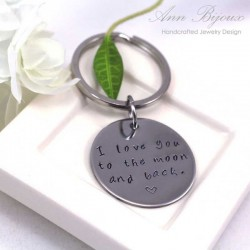 Personalized Stainless Steel Message Keychain