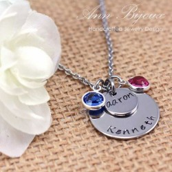 Personalized Hand Stamped Stainless Steel Mommy Necklace