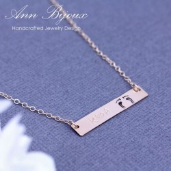 Personalized Newlywed Baby Footprint Necklace