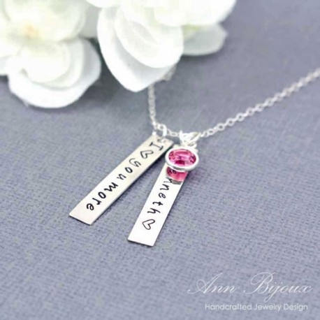 "Personalized ""I Love You More"" Hand Stamped Initial Jewelry"