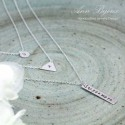 Personalized Hand Stamped Sterling Silver 3 Set Necklace