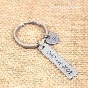 DAD EST. Message Hand Stamped  Father Keychain