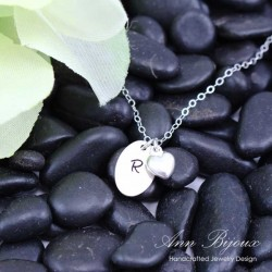 Personalized Hand Stamped Initial Necklace