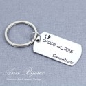 Personalized  DAD Established Father Keychain