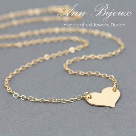 Charlize Theron Replica Gold Filled Heart Necklace