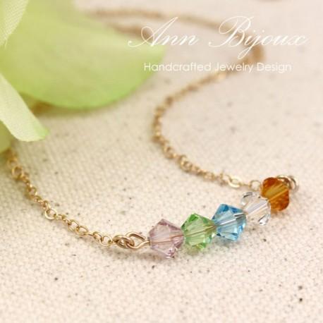 Personalized Swarovski Birthstone Necklace