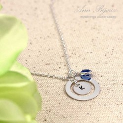 Personalized Hand Stamped Initila Necklace