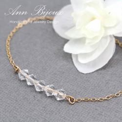 Minimalist Style Swarovski Crystal Birthstone Bracelet