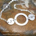 Personalized Hand Stamped Initial Chain Link Bracelet