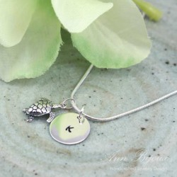 Personalized Initial with Lucky Charm Necklace