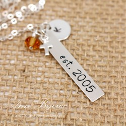 Personalized New Baby EST. Necklace for Mother